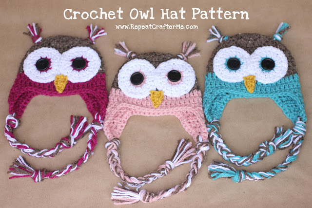 CrochetOwlHatPattern1 Wonderful DIY Adorable Crochet Owl Hat