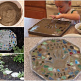 Heartwarming Handprint Stepping Stones, For Gardens
