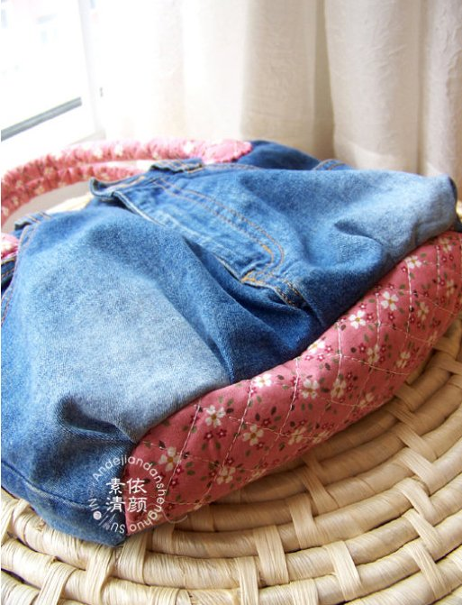 DIY Handbag from jeans