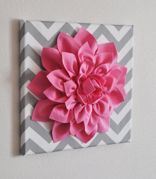VIEW IN GALLERY Dhalia Flower Wall Art Idea