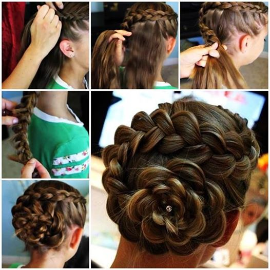 Dutch Flower Braid Updo Hairstyle  Wonderful DIY Cute Dutch Flower Braid Hairstyle