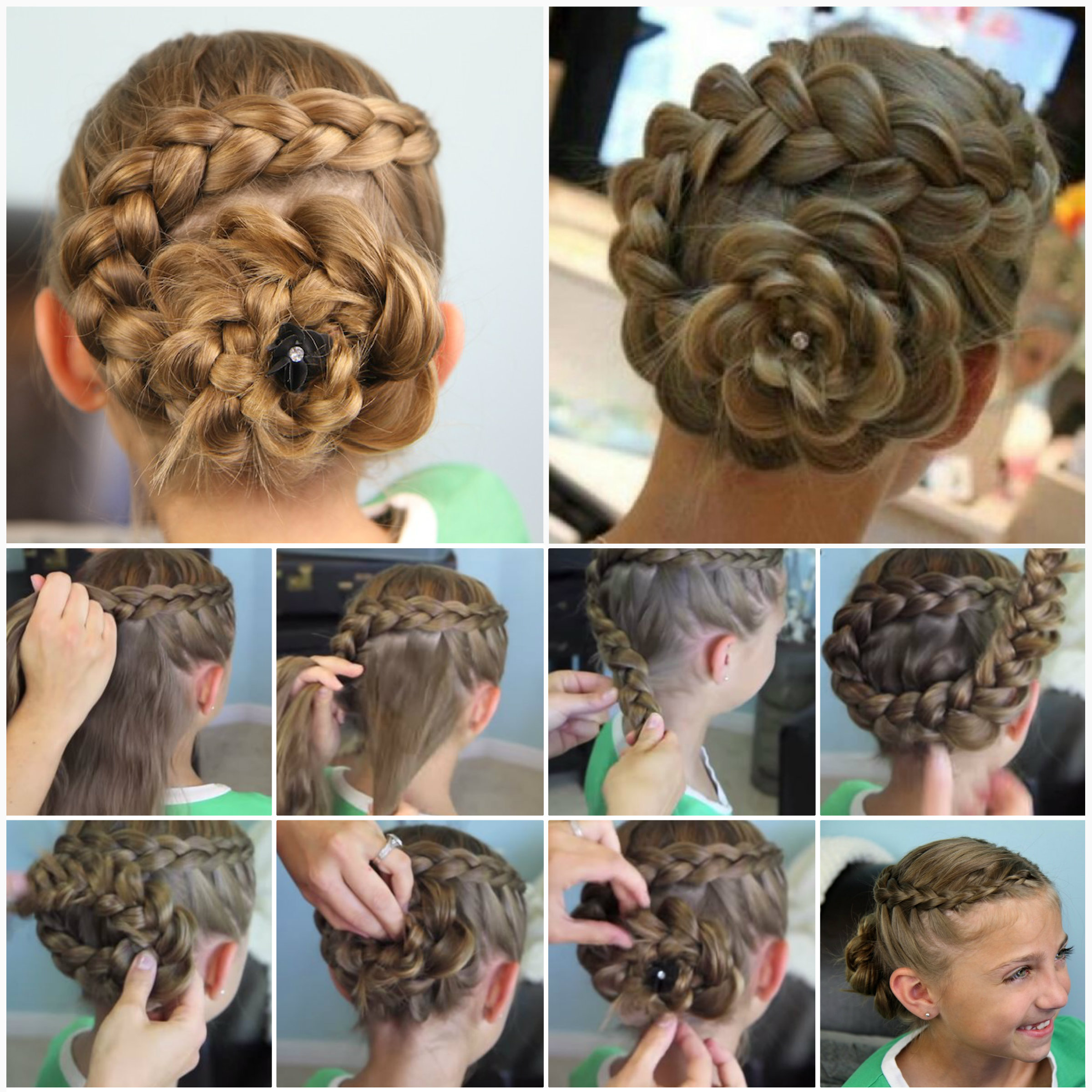 Dutch Flower Braid  Wonderful DIY Cute Dutch Flower Braid Hairstyle