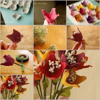 Wonderful DIY  Pretty Flower Bouquet From Egg Carton