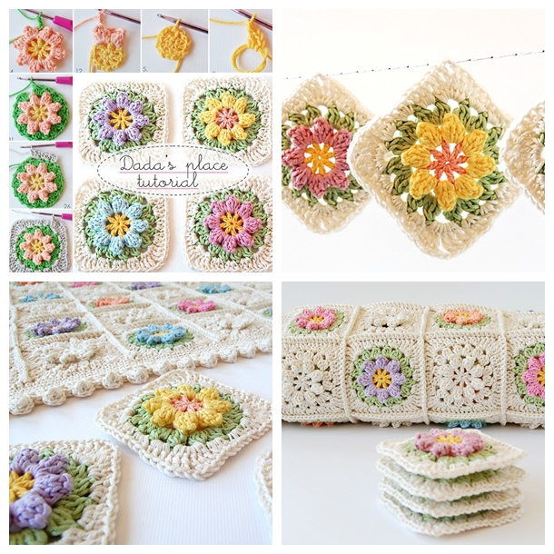 Flower Granny Squares F
