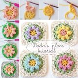 Wonderful DIY Crochet Flower Granny Squares