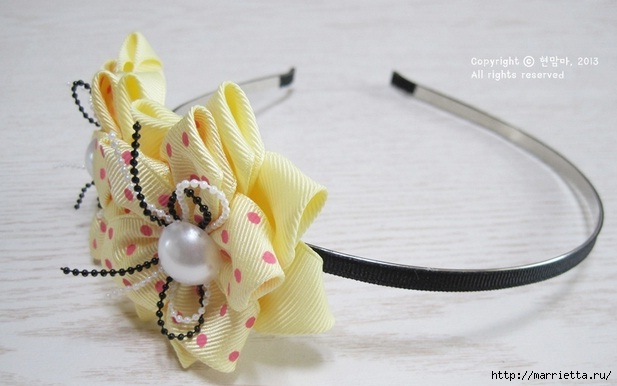 Flower Hairband 14 Wonderful DIY Pretty Ribbon Flower Hairband