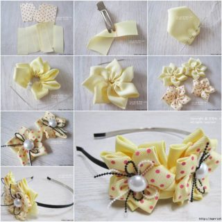 Wonderful DIY Pretty Ribbon Flower Hairband