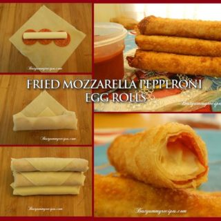 Wonderful DIY Fried Mozzarella Pepperoni Egg Roll