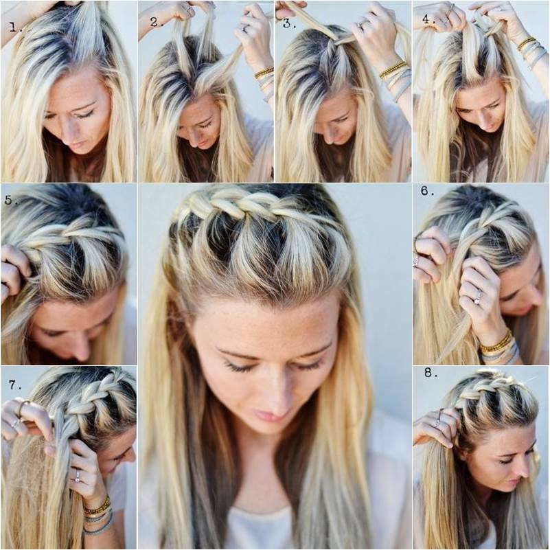 View In Gallery Half Up Side French Braid F Diy Hairstyle Simple To