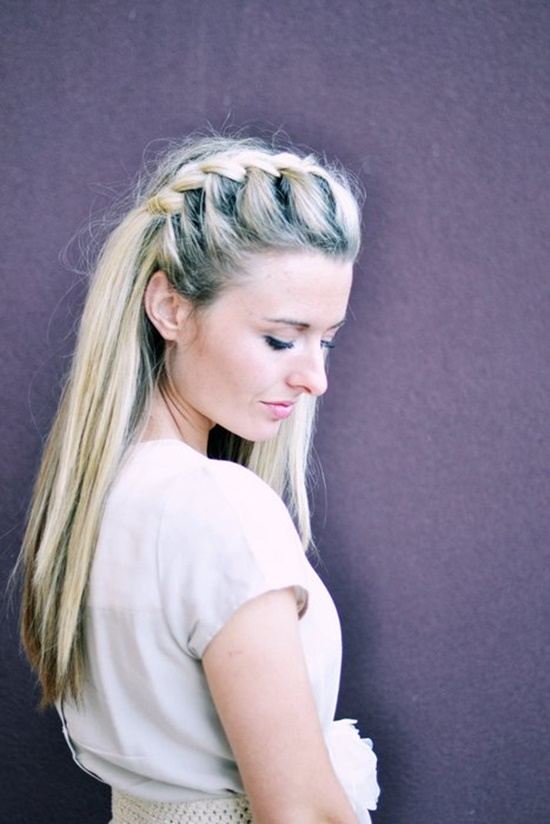 Half-Up Side French Braid1