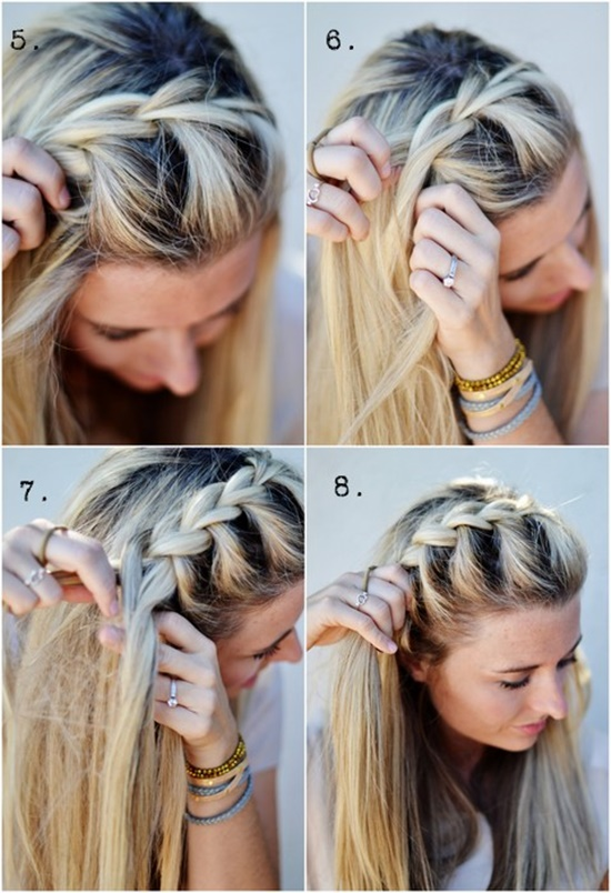 diy   side french braid hairstyle simple