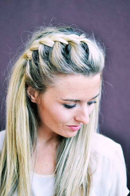 Diy half up side french braid hairstyle simple to follow guide view in gallery half up side french braid5 solutioingenieria Gallery