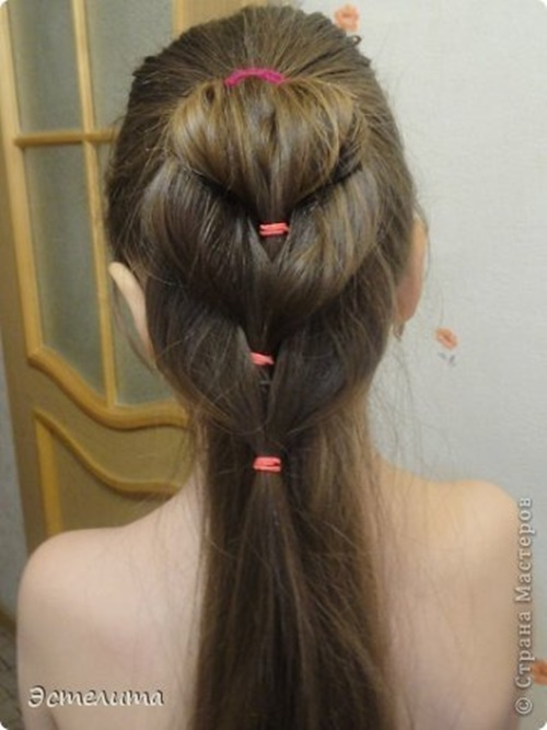 Heart Ponytail Hairstyle8