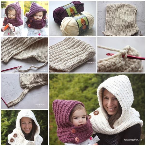 Wonderful DIY Crochet Hooded Cowl With Free Pattern Impressive Hooded Cowl Pattern
