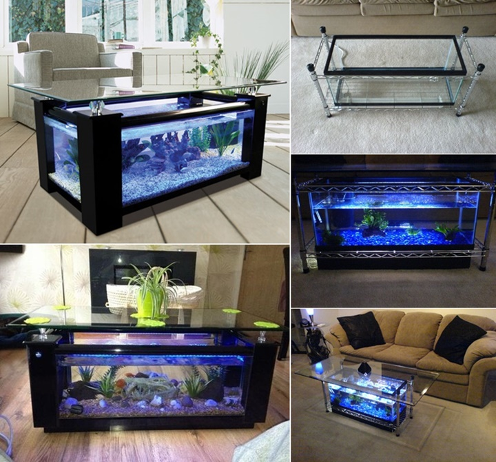 fish tank coffee table Spectacular DIY Fish Tank Coffee Table   Free Guide and Tutorial fish tank coffee table