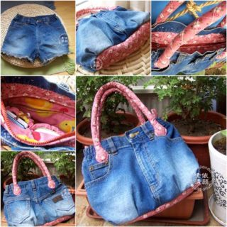 DIY Denim Tote Bag Made with Recycled Jeans – Free Guide
