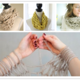 Wonderful DIY Amazing Arm Knitted Scarf