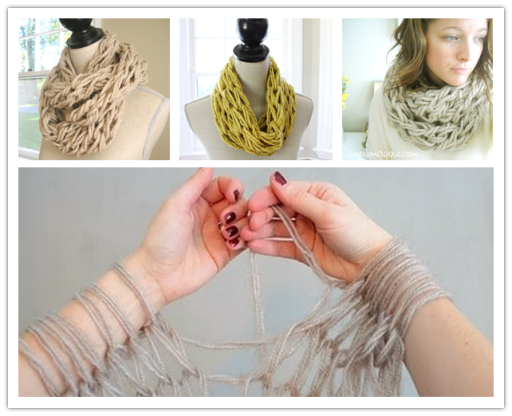 How to arm knit a DIY scarf in 30 minutes Wonderful DIY Amazing Arm Knitted Scarf