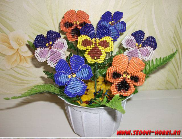How to make Beads Pansy Flower 00 00 Wonderful DIY Creative Beads Pansy Flower