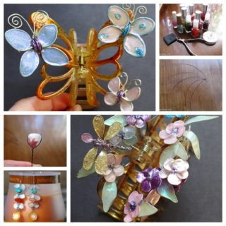 Wonderful DIY Butterfly Hairclip With Nail Polish, Glue and Wire