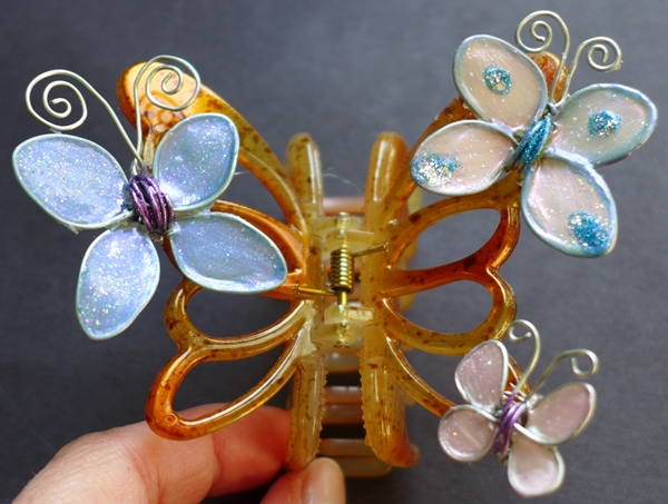 Jewelry With Nail Polish Glue and Wire1  Wonderful DIY Butterfly Hairclip With Nail Polish, Glue and Wire