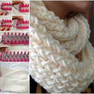Wonderful DIY Easy Loom Knitted Scarf