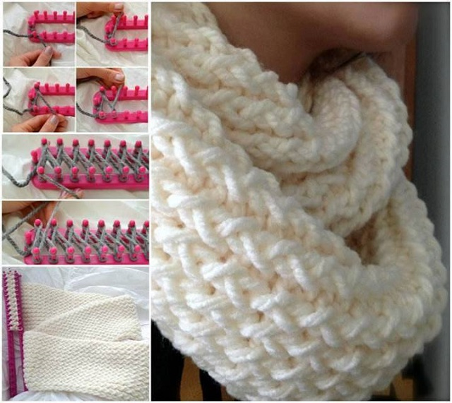 Wonderful DIY Easy Loom Knitted Scarf Delectable Scarf Loom Patterns