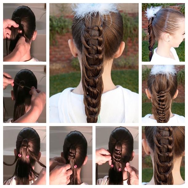 Knotted Ponytail Hairstyle F Wonderful DIY Cool Knotted  Ponytail Hairstyle