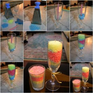 Wonderful DIY Exclusive Layered Grated Candles