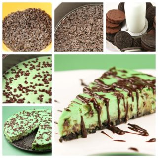 Wonderful DIY Mint Chocolate Chip Cheesecake