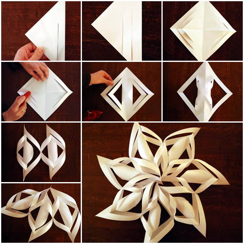 Wonderful diy 3d paper star snowflakes view in gallery paper star snowflake diy f2 wonderful diy 3d paper star snowflakes solutioingenieria