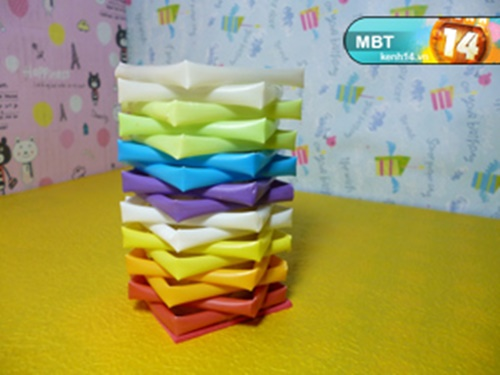 Pencil Holder  from  Drinking Straws  6