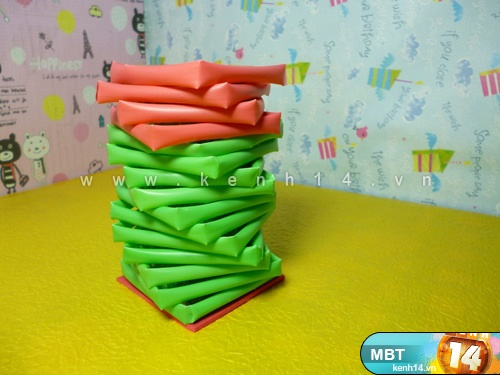 Pencil Holder  from  Drinking Straws  7