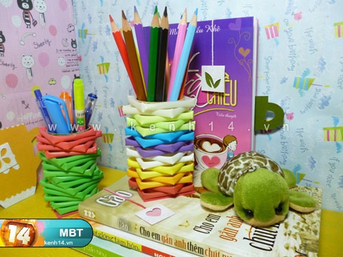 Pencil Holder  from  Drinking Straws  8