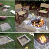 Wonderful DIY Easy Fire Pit In Backyard