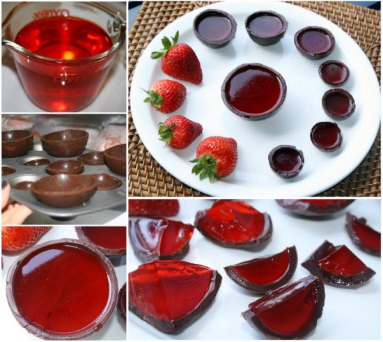Strawberry-Jello-Chocolate-Bowls-wonderfuldiy