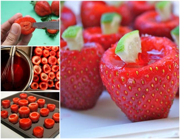 Strawberry Margarita Shots  Wonderful DIY Strawberry Margarita Jell o Shots