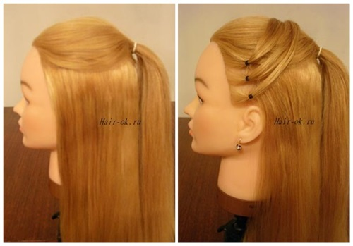 Stylish High Ponytail with Side Mesh1 Wonderful DIY Stylish High Ponytail with Side Mesh