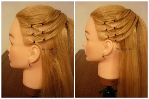 Stylish High Ponytail with Side Mesh3