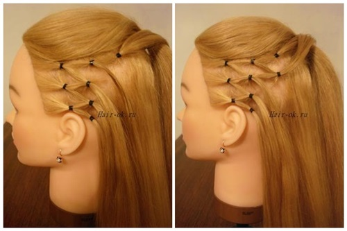 Stylish High Ponytail with Side Mesh4