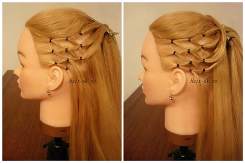 Stylish High Ponytail with Side Mesh5