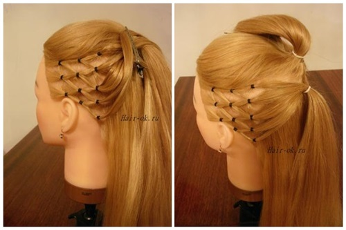 Stylish High Ponytail with Side Mesh6