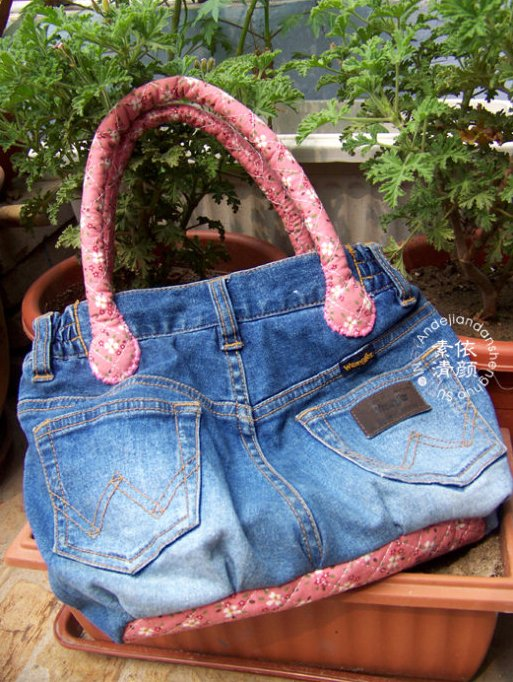 Tote Handbag from old jeans