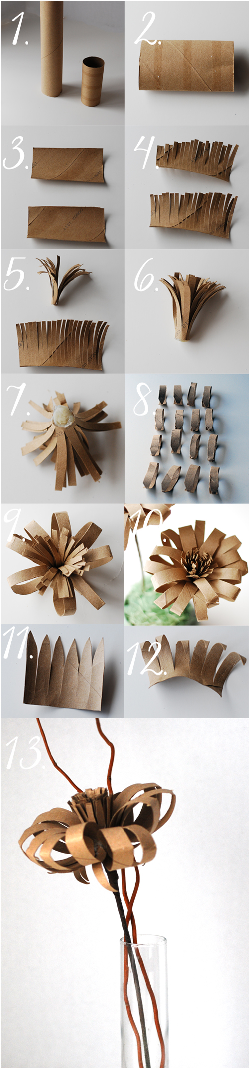 Vintage-paper-flower-from-paper-roll-tutorial DIY