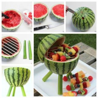 Wonderful DIY Creative Watermelon Grill Centerpiece