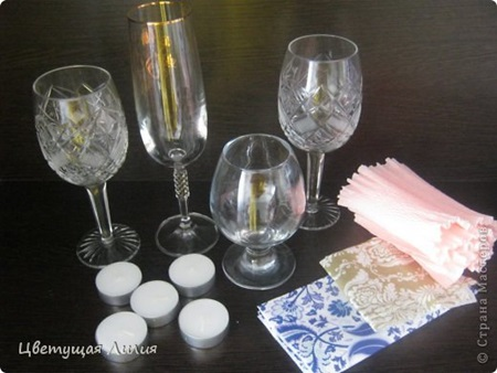 Wine Glass Candle Lamp1 Wonderful DIY Fancy Wine Glass Candle Lamps
