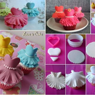 Beautiful Ballerina Cupcakes, Quick Recipe