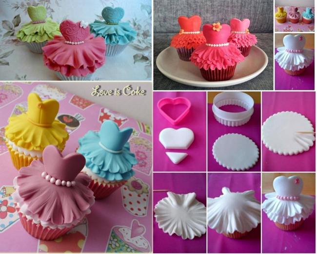 ballerina cupcakes F Beautiful Ballerina Cupcakes, Quick Recipe
