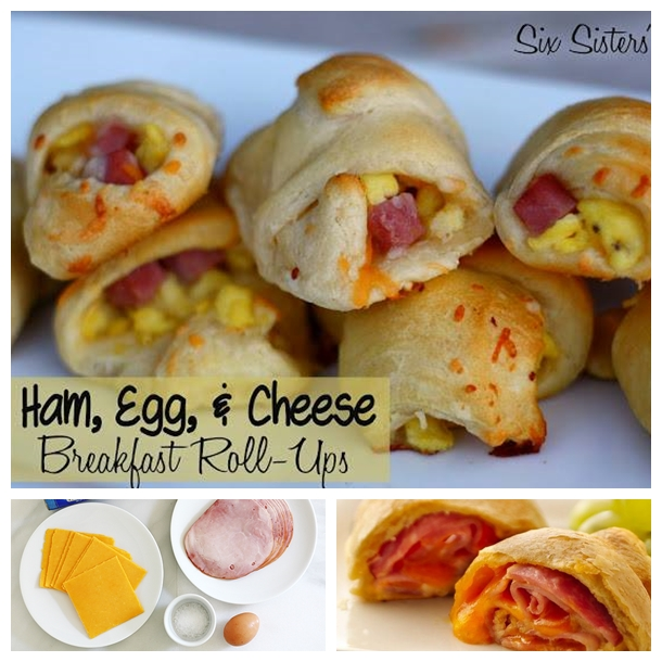 breakfast roll ups with hamcheese and egg F Wonderful DIY Breakfast Roll Ups with Ham, Cheese and Egg