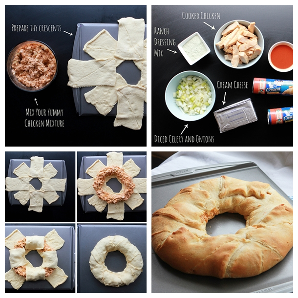 buffalo chicken ring F Wonderful DIY Delicious Buffalo Chicken Crescent Ring
